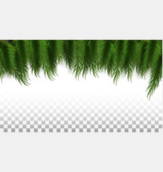 green christmas tree background template ready vector image