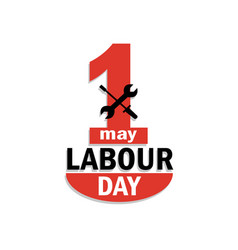 Happy 1 may day labour day logo concept vector