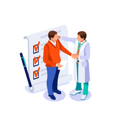 Health care isometric concept vector