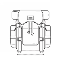 Hiking Backpack Icon vector