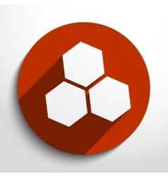 Honey cells web icon vector
