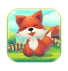 icon feed fox gui match 3 vector image