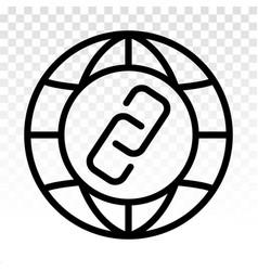 Internet url or webpage url link line art icon vector