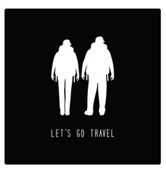 lets go travel1 vector image