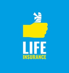 life insurance vector image