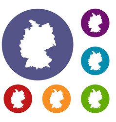 map of germany icons set vector image