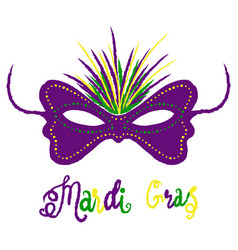 mardi gras carnival set masquerade vector image