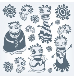 monster sketches vector image