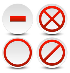 No entry do not cross no parking signs icons vector