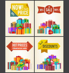 Now best prices hot discounts clearance sale set vector
