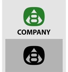 Number 8 logo logotype design vector
