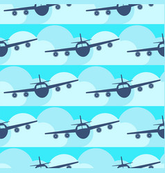 Plane transport seamless pattern original flat vector
