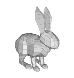 polygonal abstract rabbit vector image