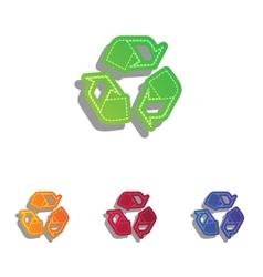 Recycle logo concept colorful applique icons set vector