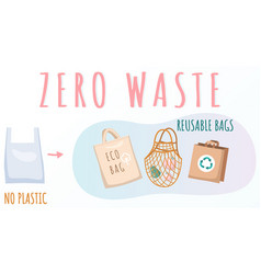 reusable cloth packages instead plastic vector image