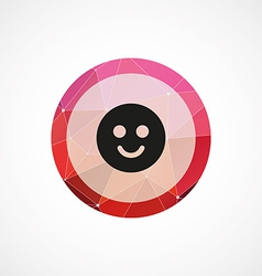 Smile circle pink triangle background icon vector