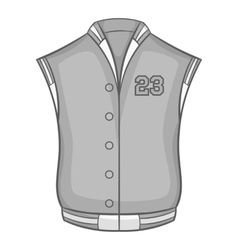 Sports vest icon black monochrome style vector image vector image