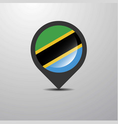 Tanzania map pin vector