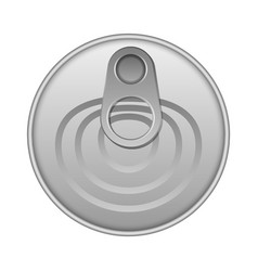 Top view tin can mockup realistic style vector