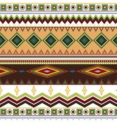 Tribal ethnic seamless stripe pattern on white vector image