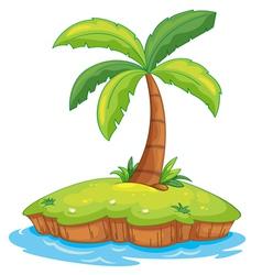 Tropcial island vector image