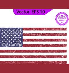 Usa flag distressed american flag crack flag vector
