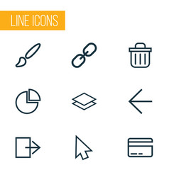User outline icons set collection of log out vector