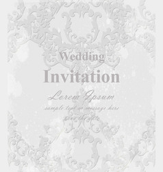 Vintage baroque invitation card royal vector
