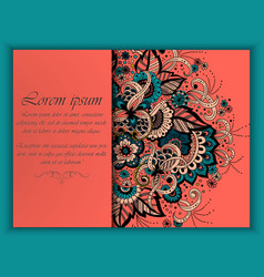 wedding invitation card with vector image