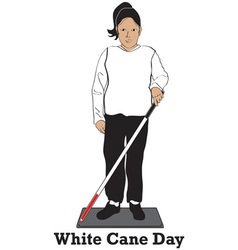 White Cane Day vector