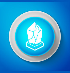 white cryptocurrency coin lisk lsk icon isolated vector image