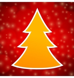 Yellow Christmas Tree vector image