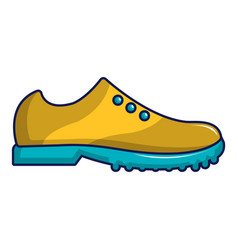 Yellow golf shoes icon cartoon style vector
