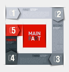 Consecutive steps design template vector image