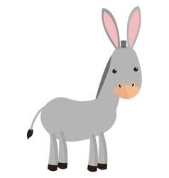 donkey cartoon icon vector image