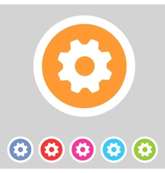 Flat game graphics icon settings vector image vector image