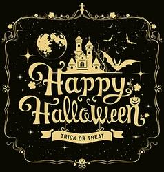 Happy halloween message silhouette design vector