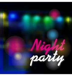 Night party dark background vector image vector image