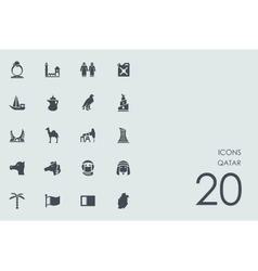 Set of Qatar icons vector image