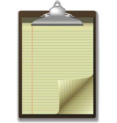 clipboard corner paper page vector image vector image