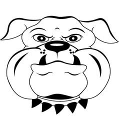 head dog cartoon vector image vector image