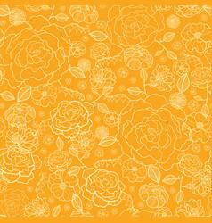 orange and gold flower garden seamless vector image vector image