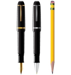 pencil pen fpen vector image