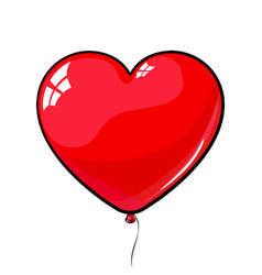 Red heart shaped balloon love march 8 vector