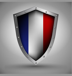 shield with the netherlands flag vector image