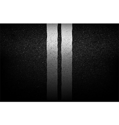 Asphalt texture with road markings background vector image vector image
