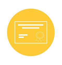 Certificate document icon vector
