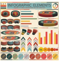 Detail infographic - retro style design vector image