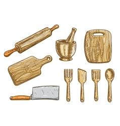 kitchen tools Kitchenware appliances vector image vector image