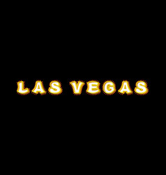 las vegas sign with glowing lights retro label vector image